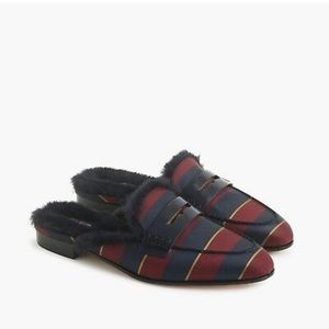NWOB J.Crew Academy Striped Loafer Mule